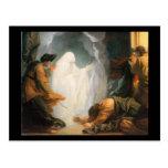 Saul y la bruja de Endor, por Benjamin del oeste Postal