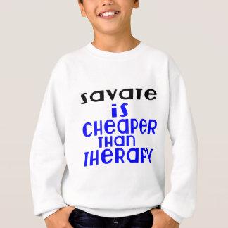 Savate es más barato que terapia sudadera