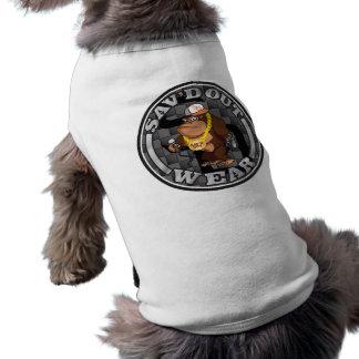 Sav'd hacia fuera lleva la ropa de los mascotas camiseta sin mangas para perro