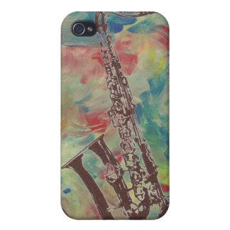 saxofón del jazz iPhone 4/4S fundas
