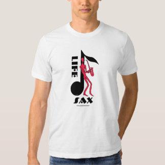 Saxofón que juega la camiseta del dibujo de la