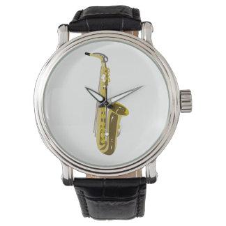 Saxofón Reloj De Pulsera