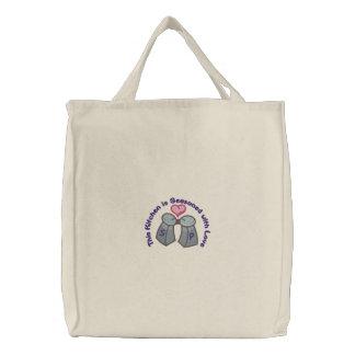Sazonado con amor bolsas de lienzo