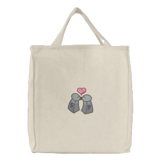 Sazonado con amor bolsa de lienzo
