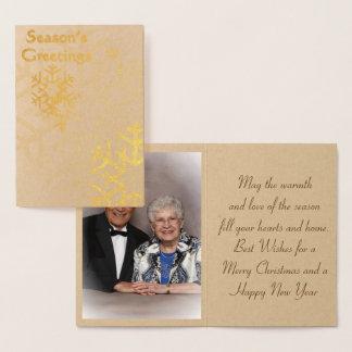 Tarjeta Con Relieve Metalizado Sazone '' la tarjeta de Navidad del efecto
