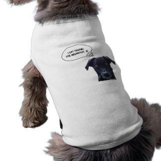 Schatzi dice: Yo como a los veganos para el desayu Camiseta Sin Mangas Para Perro