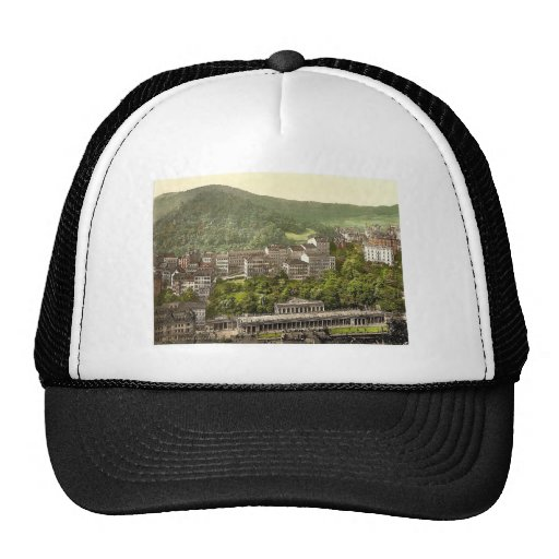 Schlossberg, rar de Carlsbad, Bohemia, Austro-Hung Gorro