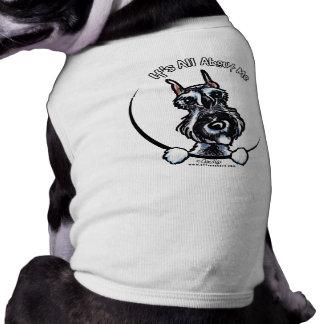 Schnauzer IAAM de la pimienta de la sal Camisetas De Perrito