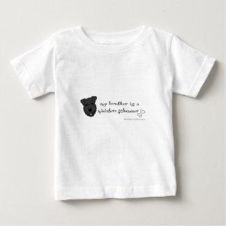 schnauzer miniatura camiseta de bebé