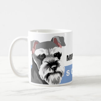 Schnauzer miniatura del amante del perro taza de café