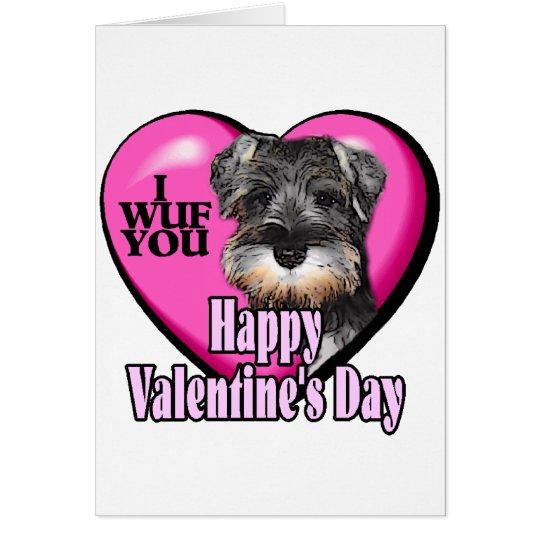 Schnauzer miniatura del el día de San Valentín Tarjeta De Felicitación