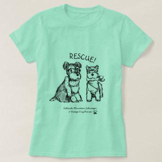 Schnauzers del invierno - camiseta básica