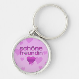 Schöne corazones rosados y púrpuras de Freundin de Llavero Personalizado