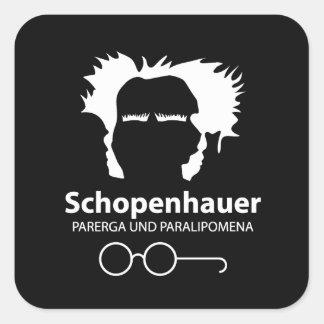 Schopenhauer Parerga Confidence ED. Pegatina Cuadrada
