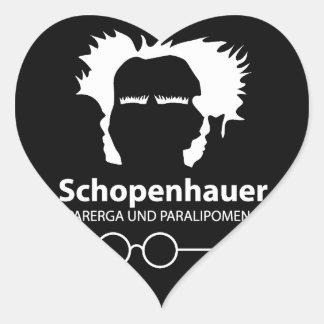 Schopenhauer Parerga Confidence ED. Pegatina En Forma De Corazón