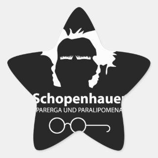 Schopenhauer Parerga Confidence ED. Pegatina En Forma De Estrella
