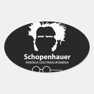 Schopenhauer Parerga Confidence ED. Pegatina Ovalada