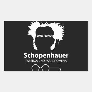 Schopenhauer Parerga Confidence ED. Pegatina Rectangular