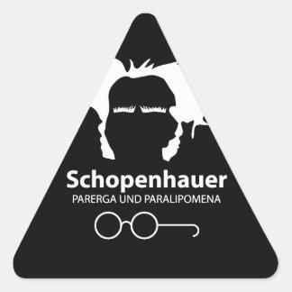 Schopenhauer Parerga Confidence ED. Pegatina Triangular