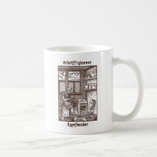 Schrifftglesser - fundidor de tipos de imprenta taza básica blanca