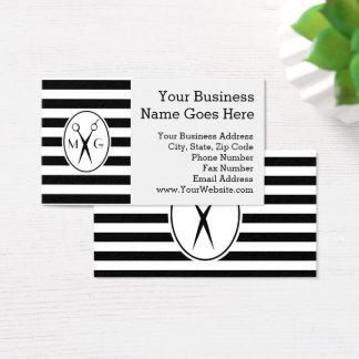 Scissor la peluquería de caballeros del estilista tarjeta de negocios