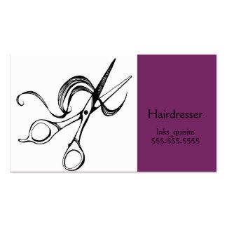 Scissors tarjetas de visita de la peluquería