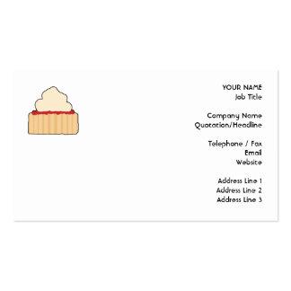 Scone del atasco con el desmoche poner crema tarjetas de visita