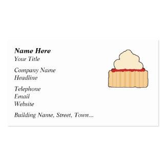 Scone. del atasco y de la crema plantilla de tarjeta de visita
