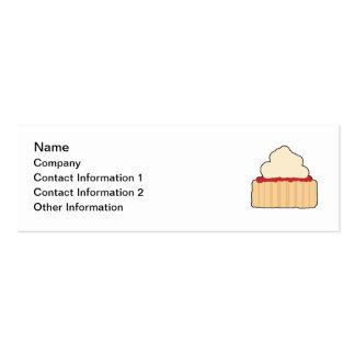 Scone. del atasco y de la crema tarjetas de visita mini