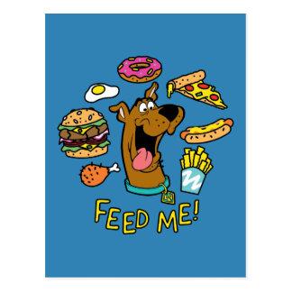 ¡Scooby-Doo me alimenta! Postal