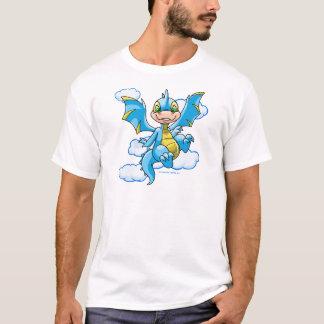Scorchio azul con su cabeza en las nubes camiseta