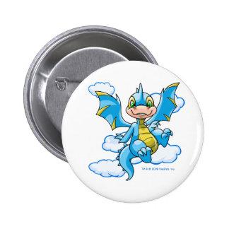 Scorchio azul con su cabeza en las nubes chapa redonda 5 cm