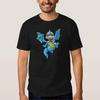 Scorchio azul curioso camiseta