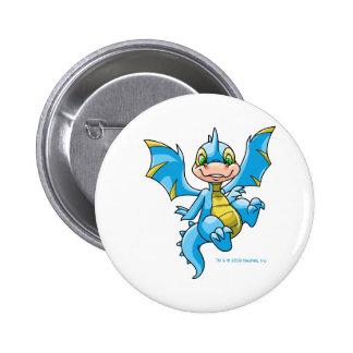 Scorchio azul curioso chapa redonda de 5 cm
