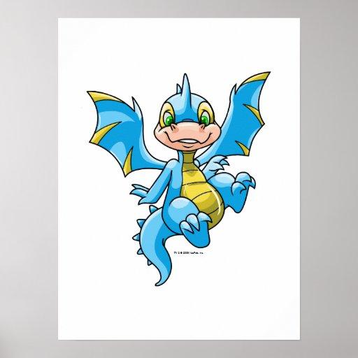 Scorchio azul curioso poster