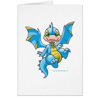 Scorchio azul curioso tarjeta de felicitación
