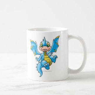 Scorchio azul curioso taza básica blanca