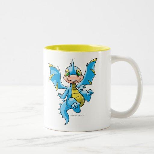 Scorchio azul curioso taza