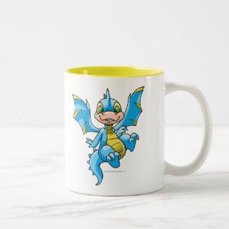 Scorchio azul curioso taza de dos tonos