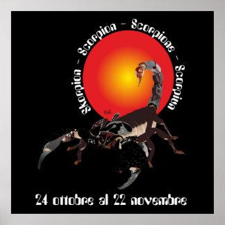 Scorpione 24 al ottobre de 22 pósteres novembre póster