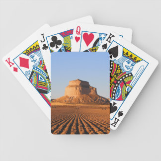 Scottsbluff Nebraska que cultiva puesta del sol de Baraja De Cartas Bicycle