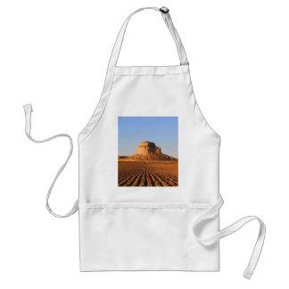 Scottsbluff Nebraska que cultiva puesta del sol de Delantal