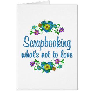 Scrapbooking al amor felicitación
