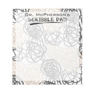 Scribble Pad del doctor personalizado Bloc De Notas