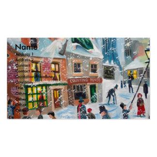 Scrooge fantasmas del navidad del villancico del tarjetas de visita