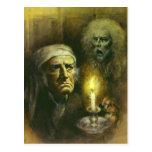 Scrooge y postal del fantasma