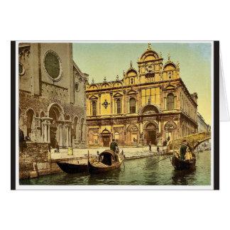 Scuola di San Marco, obra clásica Photoch de Venec Tarjeta De Felicitación