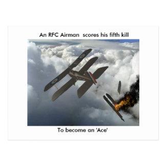 Se5a mata a DFW, cuentas de un aviador del RFC su Postal