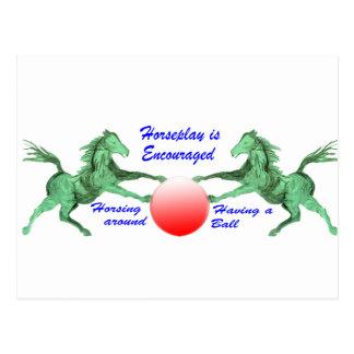Se anima el Horseplay Tarjeta Postal