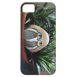 SE de piedra del iPhone de los pingüinos + iPhone Funda Para iPhone SE/5/5s